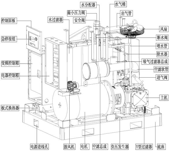 全无油空压机结构示意图